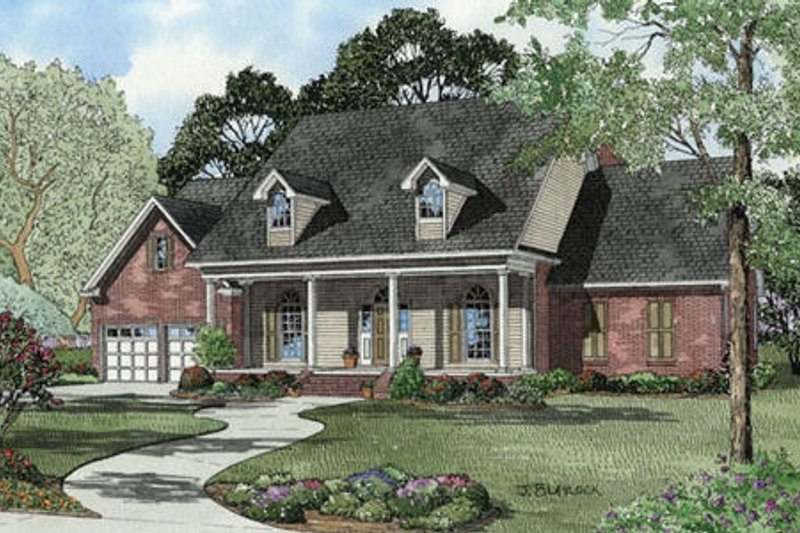 Country Style House Plan - 3 Beds 3 Baths 2422 Sq/Ft Plan #17-2093