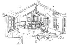 House Plan Design - Cottage Interior - Family Room Plan #942-42