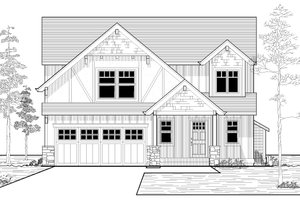 Craftsman Exterior - Front Elevation Plan #53-525