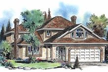 House Plan Design - European Exterior - Front Elevation Plan #18-205