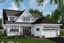 Architectural House Design - Farmhouse Exterior - Front Elevation Plan #51-1148