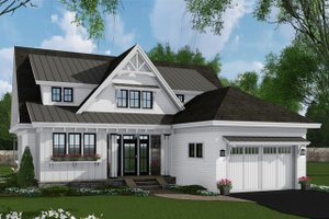 House Blueprint - Farmhouse Exterior - Front Elevation Plan #51-1148