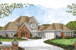 European Exterior - Front Elevation Plan #410-235
