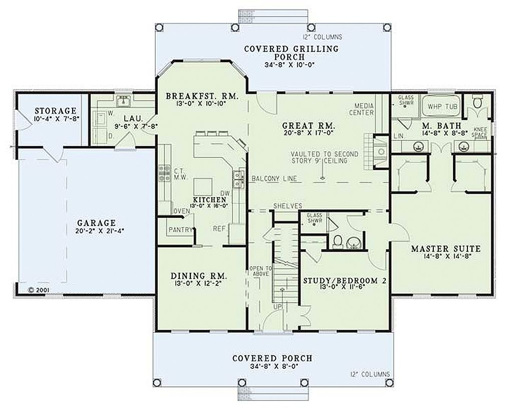 Colonial Style House Plan - 4 Beds 2.5 Baths 2603 Sq/Ft Plan ... on colonial houses with dormers, colonial houses with shutters, colonial house with 3 car garage, colonial house with painted brick,