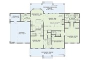 Colonial Style House Plan - 4 Beds 2.5 Baths 2603 Sq/Ft Plan #17-2068 Floor Plan - Main Floor