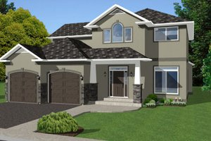 Craftsman Exterior - Front Elevation Plan #126-158