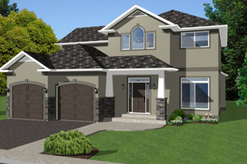 Craftsman Style House Plan - 3 Beds 3 Baths 2152 Sq/Ft Plan #126-158 Exterior - Front Elevation