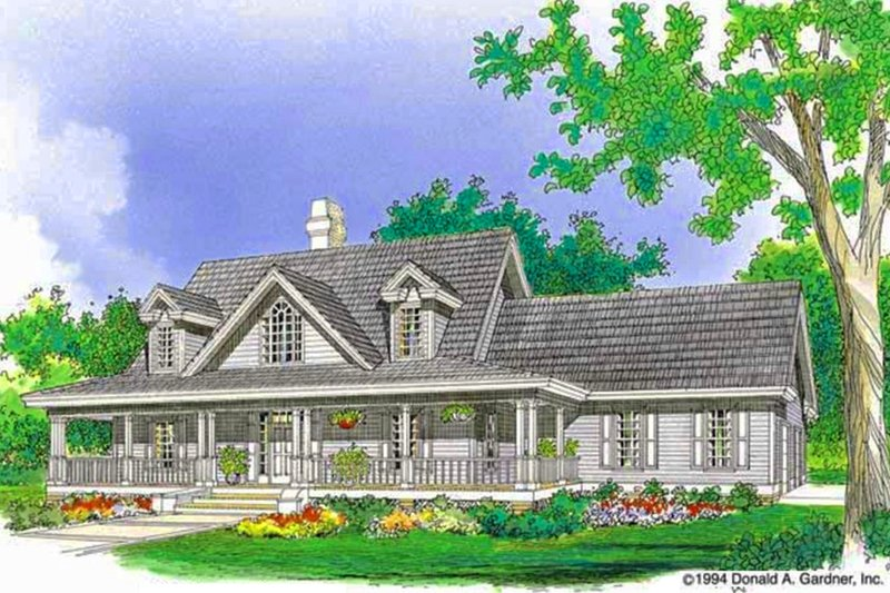 Country Exterior - Front Elevation Plan #929-215 - Houseplans.com