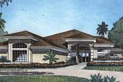 European Style House Plan - 4 Beds 3.5 Baths 3743 Sq/Ft Plan #417-406