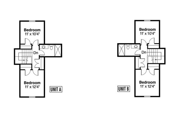 Craftsman Floor Plan - Upper Floor Plan Plan #124-709