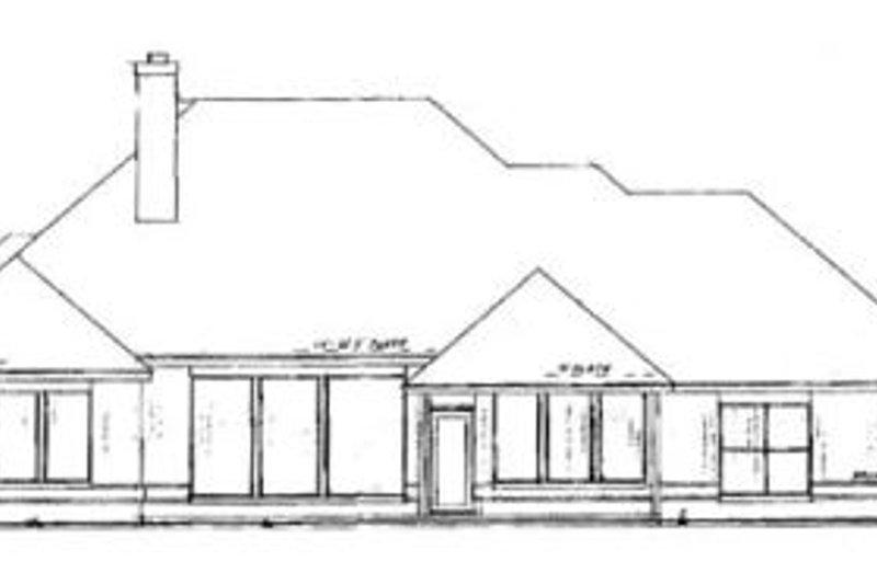 Exterior - Rear Elevation Plan #52-133 - Houseplans.com