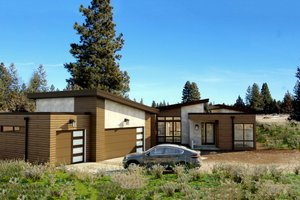 Home Plan - Contemporary Exterior - Front Elevation Plan #895-41