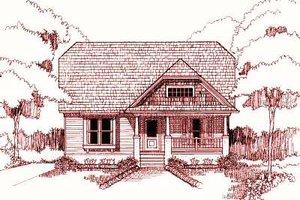 Cottage Exterior - Front Elevation Plan #79-195
