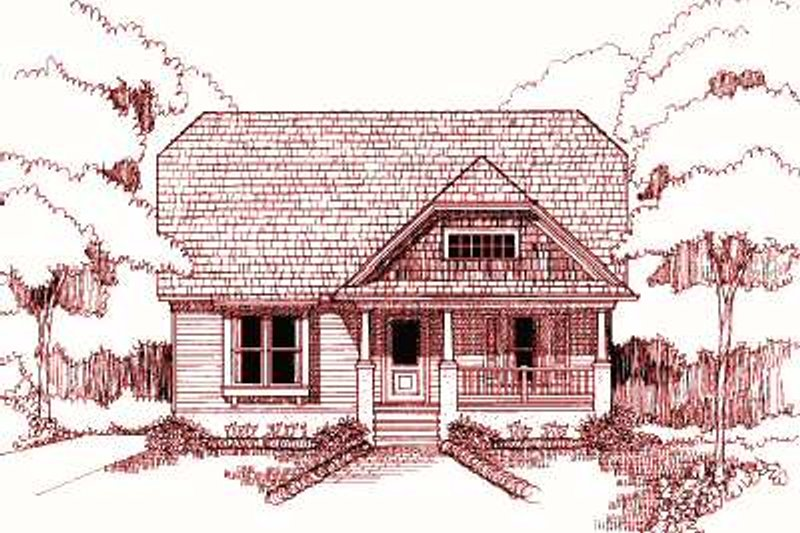 Cottage Style House Plan - 3 Beds 2.5 Baths 1491 Sq/Ft Plan #79-195 Exterior - Front Elevation