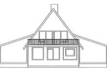 Dream House Plan - Modern Exterior - Rear Elevation Plan #60-108