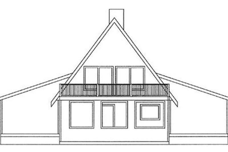Modern Exterior - Rear Elevation Plan #60-108 - Houseplans.com