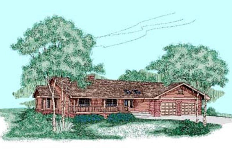 Ranch Exterior - Front Elevation Plan #60-440 - Houseplans.com