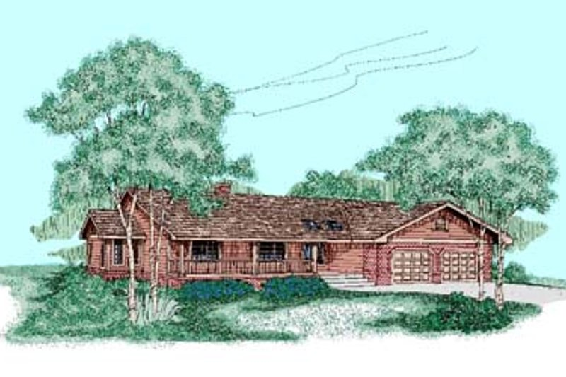 Ranch Exterior - Front Elevation Plan #60-440