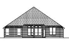 Dream House Plan - Traditional Exterior - Rear Elevation Plan #84-370