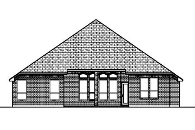Traditional Exterior - Rear Elevation Plan #84-370 - Houseplans.com