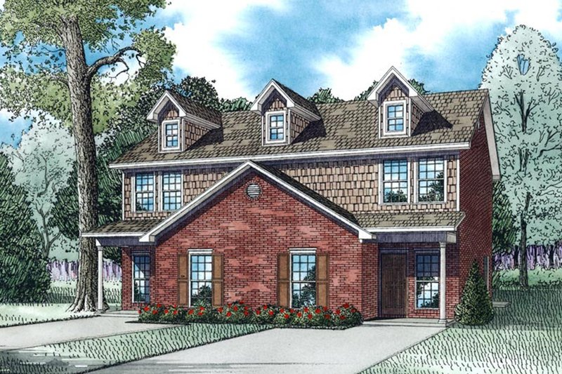 Ranch Exterior - Front Elevation Plan #17-3418