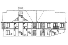 Country Exterior - Rear Elevation Plan #929-270