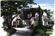 Dream House Plan - European Exterior - Front Elevation Plan #137-168