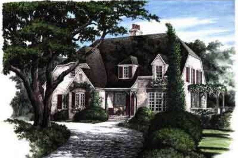 European Exterior - Front Elevation Plan #137-168 - Houseplans.com