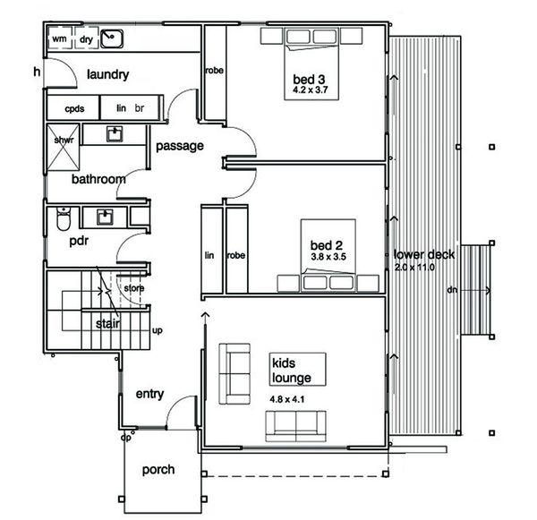 Modern Floor Plan - Main Floor Plan #496-21