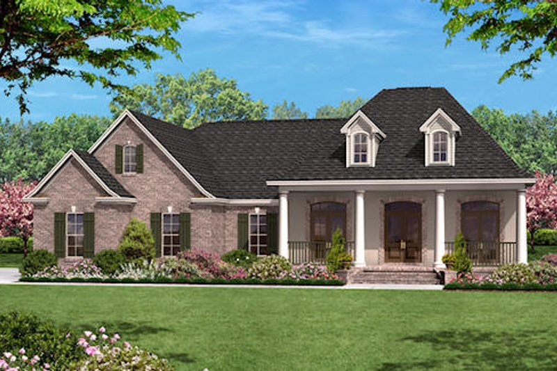 Traditional Exterior - Front Elevation Plan #430-13 - Houseplans.com