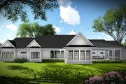 Ranch Style House Plan - 3 Beds 2 Baths 2784 Sq/Ft Plan #70-1467 Exterior - Rear Elevation