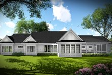 House Plan Design - Ranch Exterior - Rear Elevation Plan #70-1467