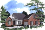 Traditional Style House Plan - 3 Beds 3 Baths 2232 Sq/Ft Plan #37-165 Exterior - Front Elevation
