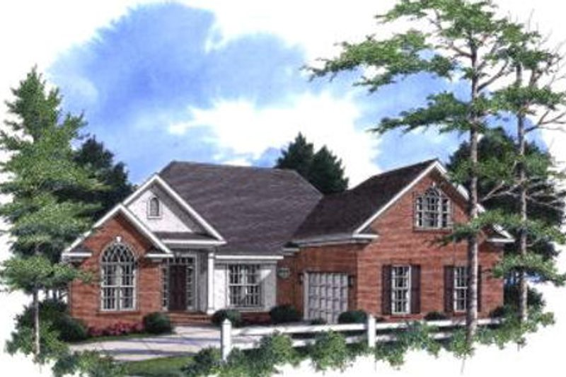 Traditional Exterior - Front Elevation Plan #37-165 - Houseplans.com
