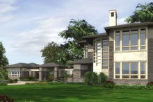 Dream House Plan - Modern Exterior - Other Elevation Plan #132-221