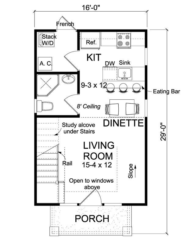 Cottage Floor Plan - Main Floor Plan Plan #513-2183