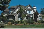 European Style House Plan - 4 Beds 2.5 Baths 2708 Sq/Ft Plan #20-205 Exterior - Front Elevation