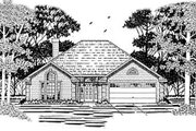 European Style House Plan - 3 Beds 2 Baths 1431 Sq/Ft Plan #42-189