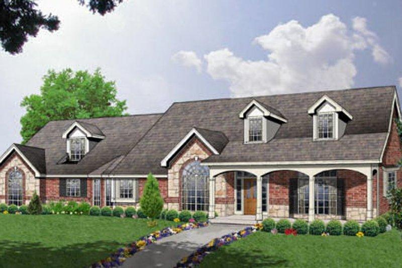 Ranch Exterior - Front Elevation Plan #40-132 - Houseplans.com