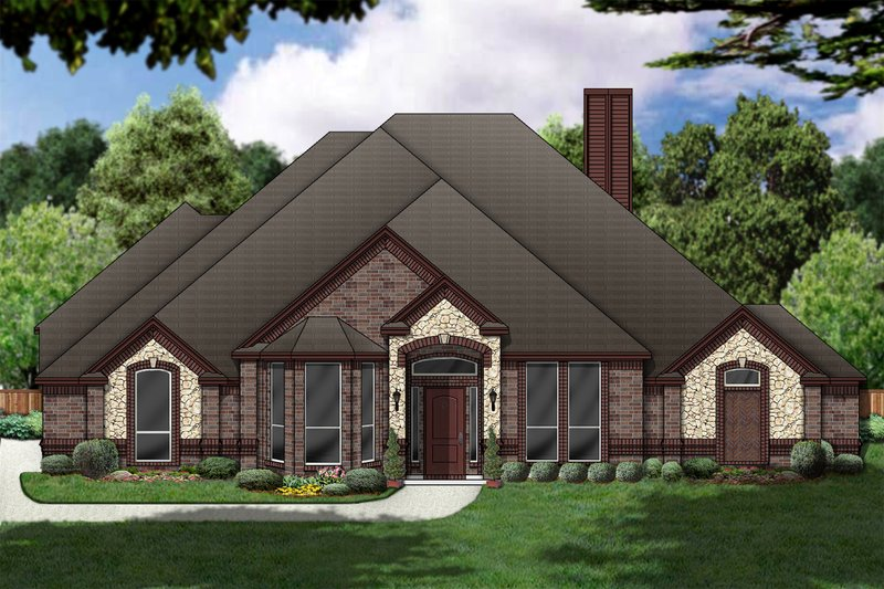 Architectural House Design - Traditional Exterior - Front Elevation Plan #84-377