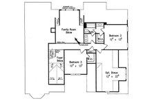 Traditional Floor Plan - Upper Floor Plan Plan #927-33