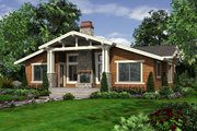Craftsman Style House Plan - 2 Beds 2 Baths 1249 Sq/Ft Plan #132-194 Exterior - Rear Elevation
