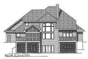 European Style House Plan - 4 Beds 3.5 Baths 2927 Sq/Ft Plan #70-465 Exterior - Rear Elevation