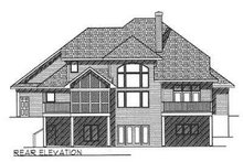 European Exterior - Rear Elevation Plan #70-465