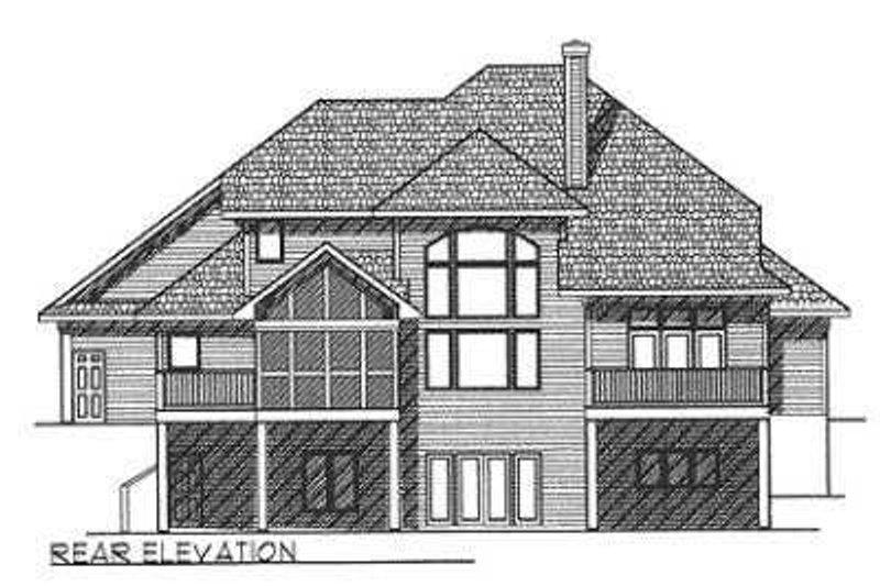 European Exterior - Rear Elevation Plan #70-465 - Houseplans.com