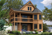 European Style House Plan - 4 Beds 1 Baths 2079 Sq/Ft Plan #25-4385 Exterior - Front Elevation