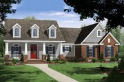 Craftsman Style House Plan - 3 Beds 2 Baths 1637 Sq/Ft Plan #21-353 Exterior - Front Elevation
