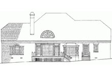 Southern Exterior - Rear Elevation Plan #137-192