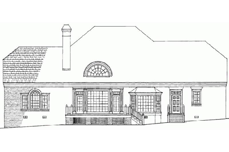 Southern Exterior - Rear Elevation Plan #137-192 - Houseplans.com