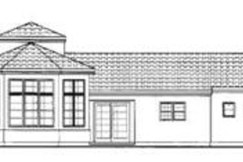 European Exterior - Rear Elevation Plan #72-130 - Houseplans.com